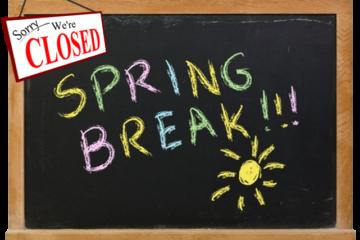 Studio Closed for Spring Break