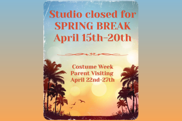 Studio Closed for Spring Break