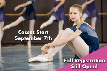 Classes Start Saturday September 7th - Registration Still Open